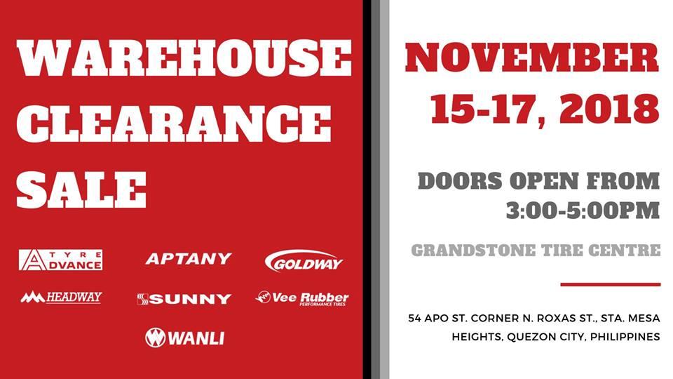 GTC's Warehouse Clearance Sale