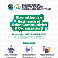2nd Dev Forum: Disaster Risk and Crisis Management 2018