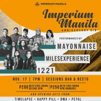 IMPERIUM MANILA, ANNIVERSARY GIG AT SESSIONS BAR MNL