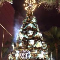 "Jack Daniel's Lit The Iconic Holiday Barrel Tree and Launched The First Pop-up Bar ""Bar No.7"" at High Street Central Square"