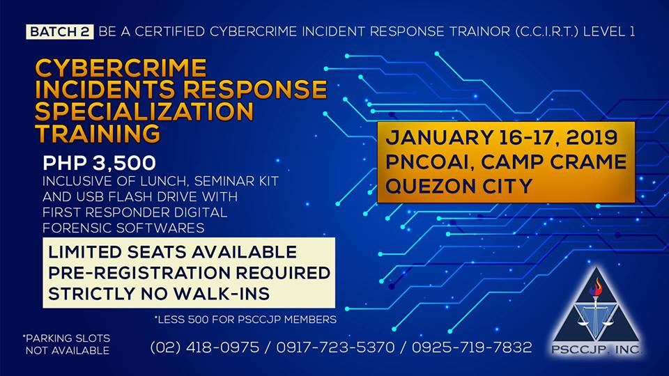 Quezon City Certification Workshop for Cybercrime Incidents