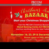 PBCOM CHRISTMAS TIME BAZAAR!