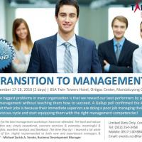 TRANSITION TO MANAGEMENT