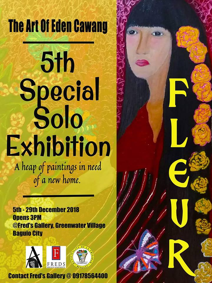 "FLEUR: THE ART OF EDEN CAWANG ""A HEAP OF PAINTINGS IN NEED OF A NEW HOME."""
