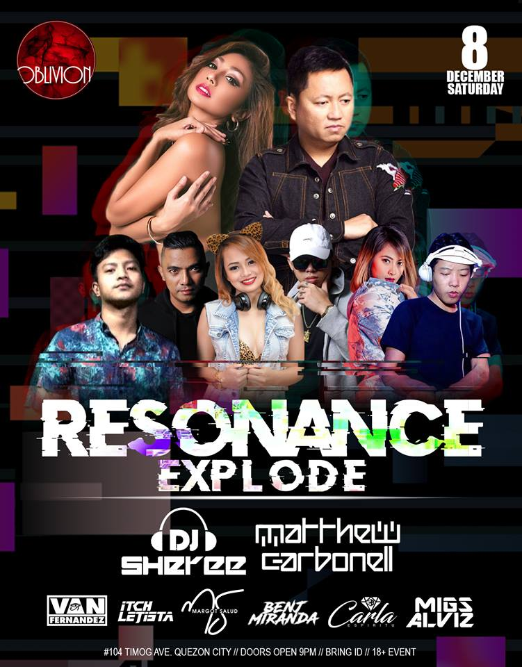 RESONANCE EXPLODE AT OBLIVION BAR & LOUNGE
