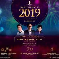 NEW YEAR'S EVE 2019 DINNER CONCERT WITH THE OPM LEGENDS