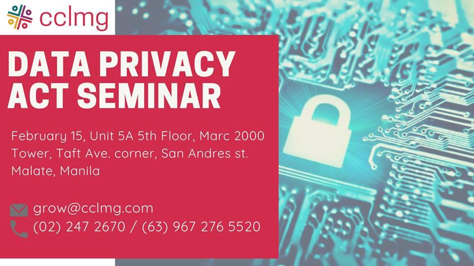 DATA PRIVACY ACT SEMINAR 2019