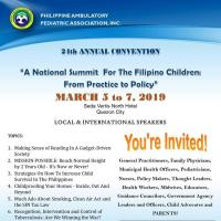 A NATIONAL SUMMIT FOR FILIPINO CHILDREN:FROM PRACTICE TO POLICY