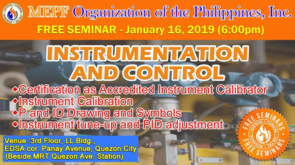 FREE SEMINAR ON INSTRUMENTATION AND CONTROLS
