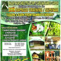 20TH BAMBOO TRAINING/SEMINAR ON LEARN & EARN FROM BAMBOO EXPERTS