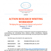 ACTION RESEARCH WORKSHOP