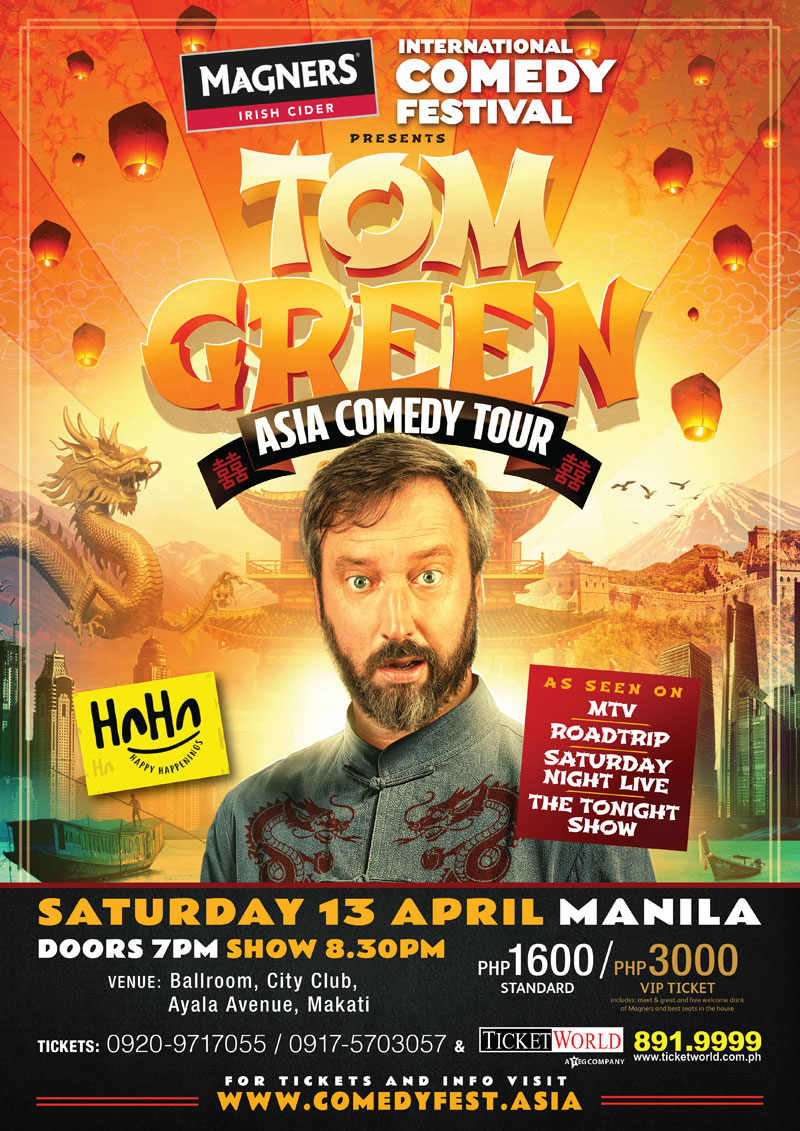 Tom Green Asia Comedy Tour