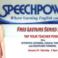 FREE LECTURE SERIES 2019 - TAP YOUR TEACHER POWER