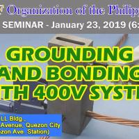 FREE SEMINAR ON GROUNDING AND BONDING WITH 400V SYSTEM