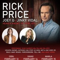 Rick Price Is Coming To The Philippines For A Valentine's Week Concert Tour With Joey G And Jinky Vidal