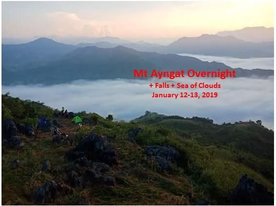 MT AYNGAT, FALLS AND SEA OF CLOUDS (OVERNIGHT)
