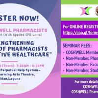 2019 CPD SEMINAR-COSHWELL PHARMACISTS WELLNESS & SELF CARE EVENT