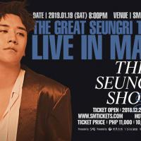 THE GREAT SEUNGRI LIVE IN MANILA