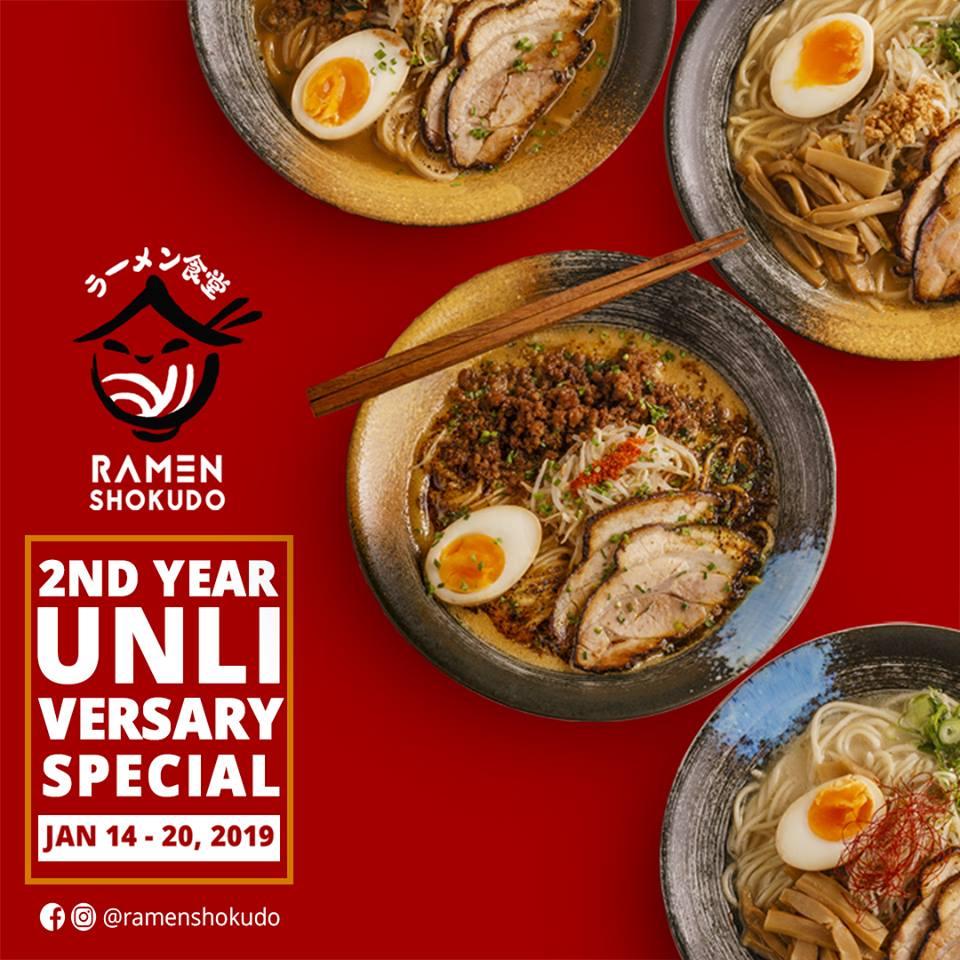 RAMEN SHOKUDO UNLIVERSARY SPECIAL JANUARY 2019