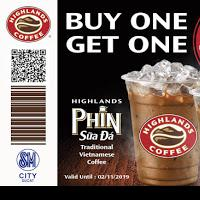 HIGHLANDS COFFEE BUY1 GET1 PROMO 2019