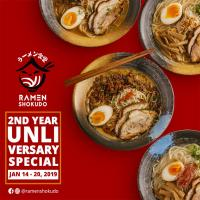 RAMEN SHOKUDO UNLIVERSARY SPECIAL JANUARY 2019