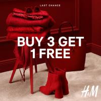 BUY 3 GET 1 SALE AT H&M JANUARY 2019