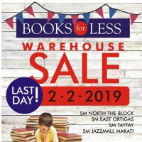 BOOKS FOR LESS WAREHOUSE SALE FEBRUARY 2019