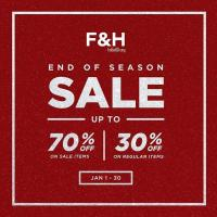 FOLDED & HUNG END OF SEASON SALE