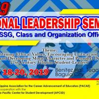 NATIONAL LEADERSHIP SEMINAR FOR SSG, CLASS AND ORG. OFFICERS