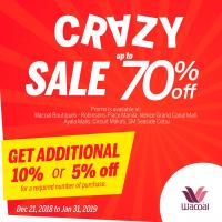 WACOAL CRAZY SALE