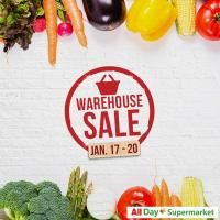 ALL DAY WAREHOUSE CLEARANCE SALE