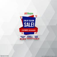 ALL HOME'S END OF SEASON SALE