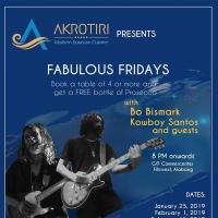 FABULOUS FRIDAYS WITH BO BISMARK AND KOWBOY SANTOS AT AKROTIRI PH