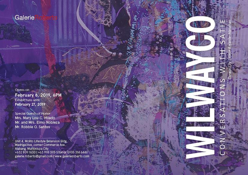 "EDWIN WILWAYCO ""CONVERSATIONS WITH SATIE"""