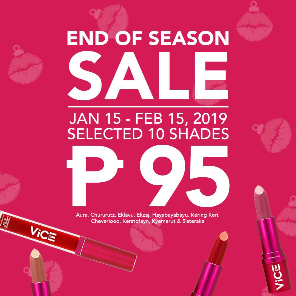 VICE COSMETICS END OF SEASON SALE