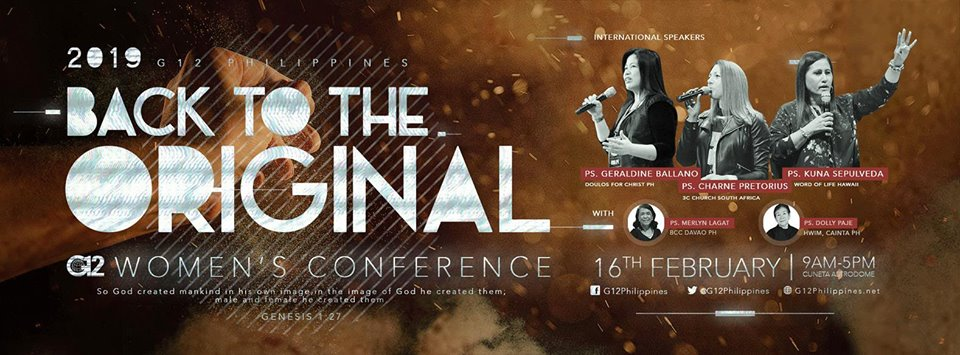 G12PH WOMEN'S CONFERENCE 2019 : BACK TO THE ORIGINAL