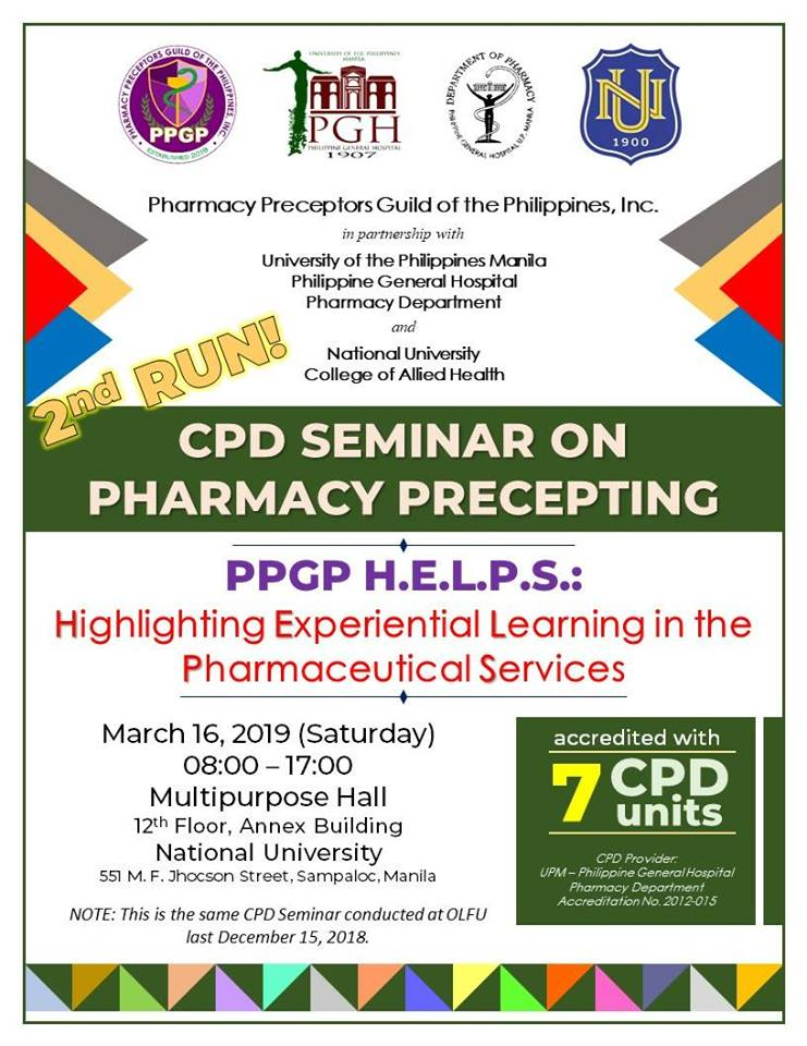 CPD SEMINAR ON PHARMACY PRECEPTING