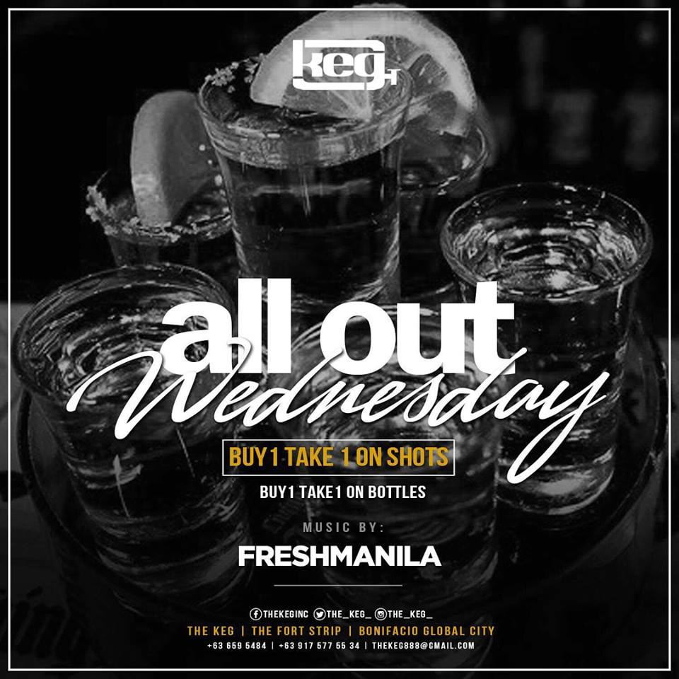 ALL OUT WEDNESDAY AT THE KEG