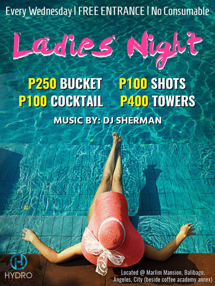 LADIES NIGHT AT HYDRO POOL CLUB