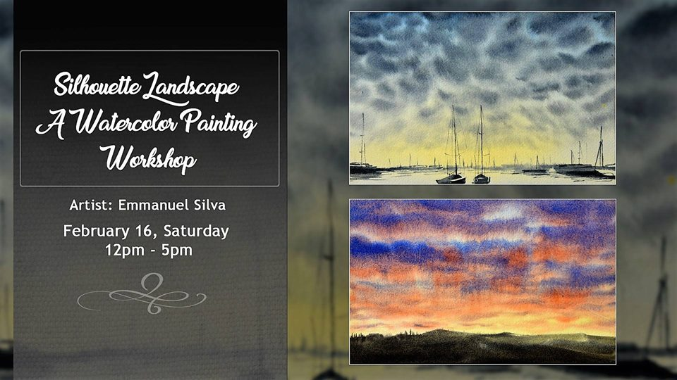 SILHOUETTE LANDSCAPE: A WATERCOLOR PAINTING WORKSHOP