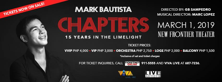MARK BAUTISTA'S CHAPTER: 15 YEARS IN THE LIMELIGHT