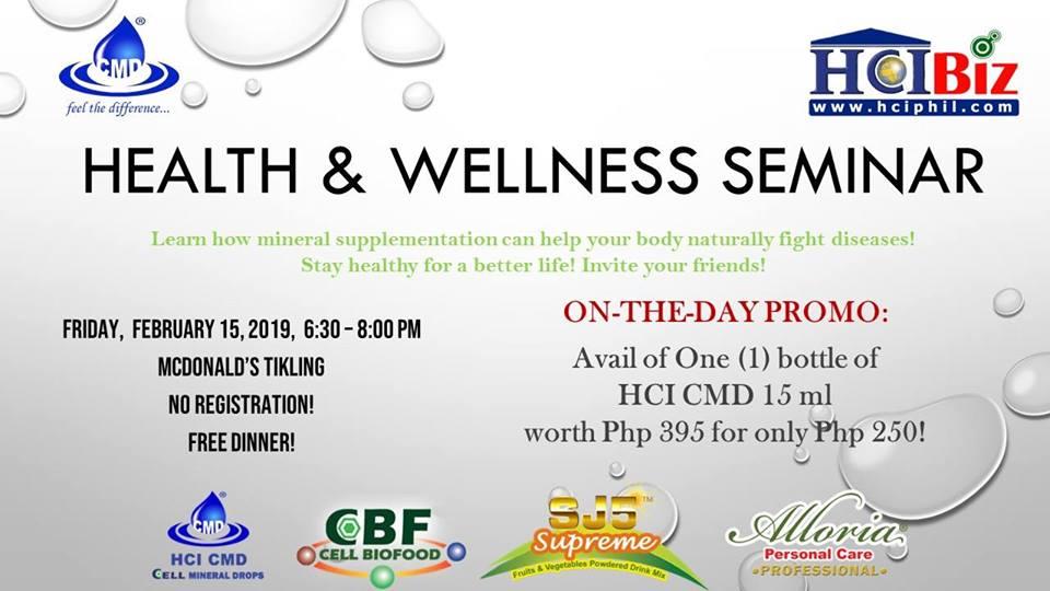 HEALTH & WELLNESS SEMINAR