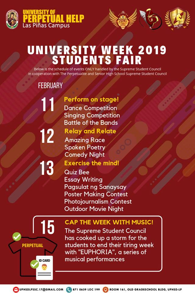 UNIVERSITY OF PERPETUAL HELP LAS PINAS - BAZAAR EVENT 2019