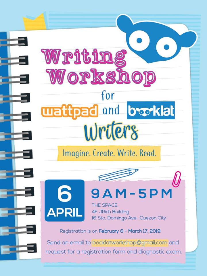 WRITING WORKSHOP FOR WATTPAD AND BOOKLAT WRITERS - What's Happening