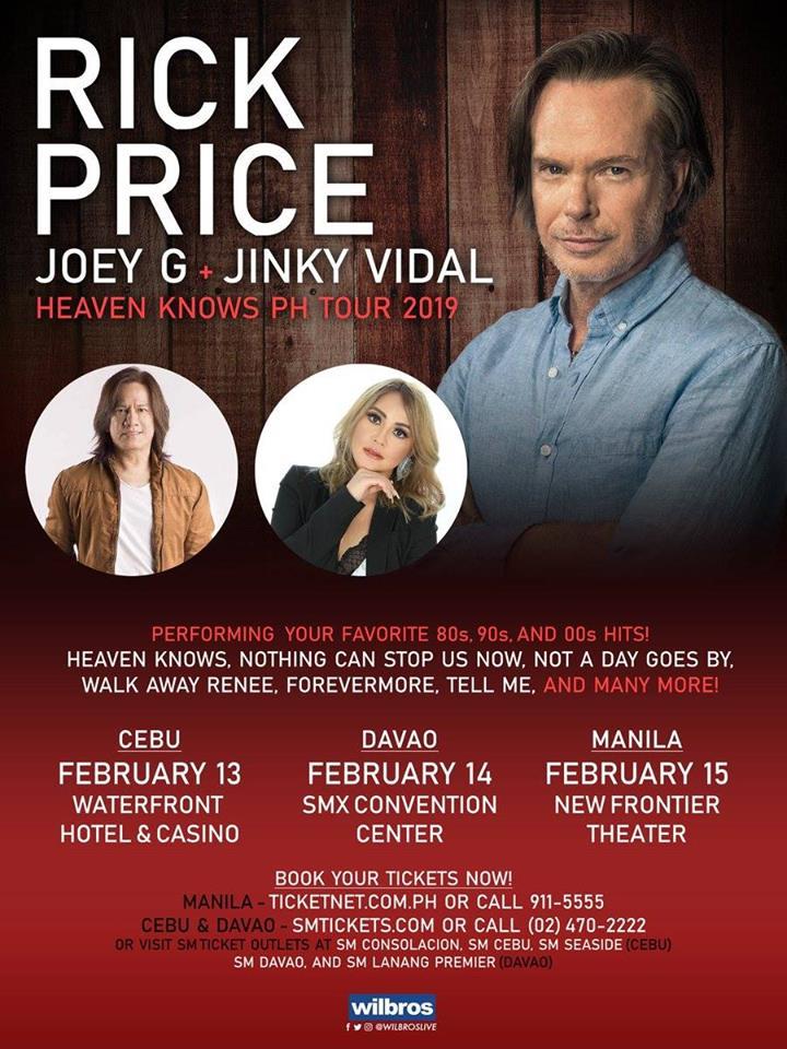 HEAVEN KNOWS PH TOUR: RICK PRICE LIVE IN MANILA