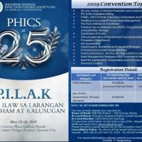PHICS 25TH ANNUAL CONVENTION