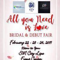 ALL YOU NEED IS LOVE (BRIDAL AND DEBUT FAIR)