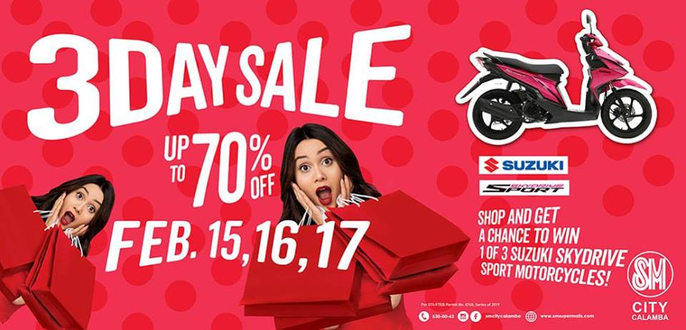 3 DAY SALE AT SM CALAMBA - What's Happening
