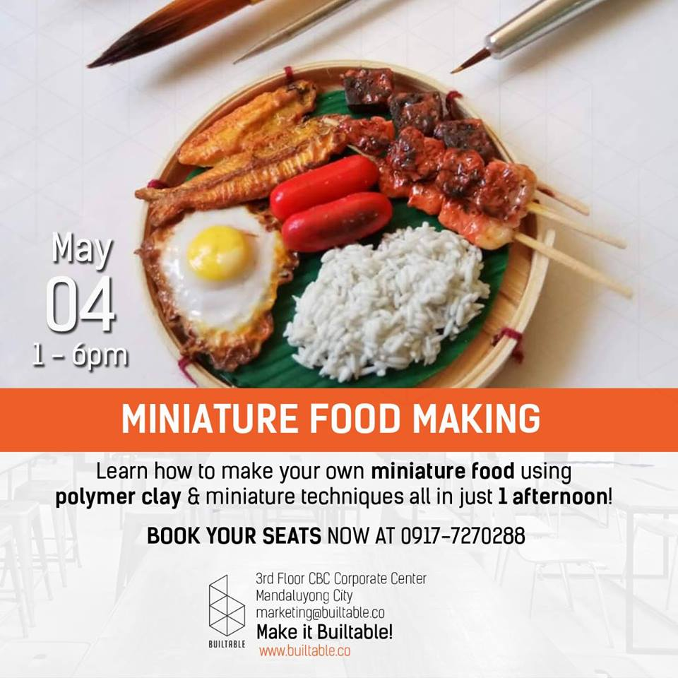 MINIATURE FOOD MAKING WORKSHOP