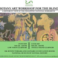 BOTANY ART WORKSHOP FOR THE BLIND